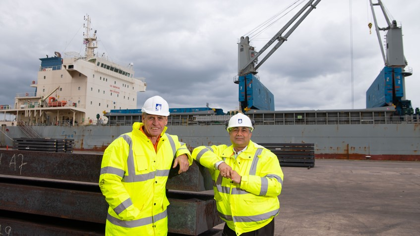 Image for Landmark steel shipment travels from Australia to Wales