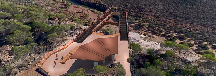 Image for Alltype Engineering uses Corten plate for new skywalk