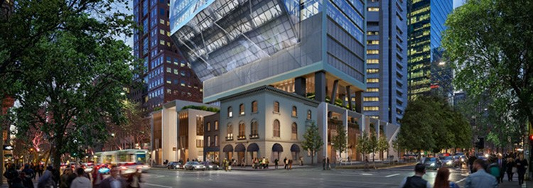 Image for Multiplex's cantilevered 80 Collins Street made possible by processed steel