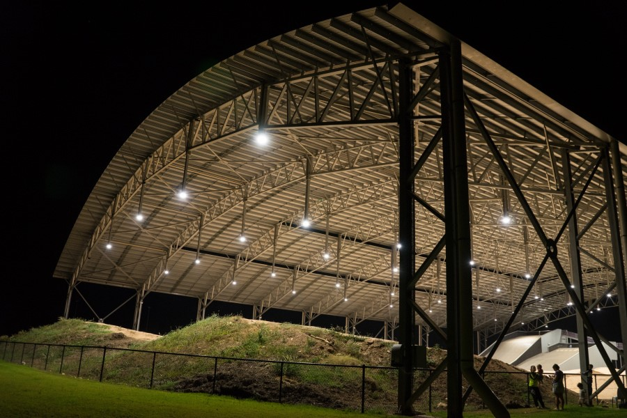 Image for Olympic-sized single span roof constructed in Darwin